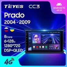 TEYES CC3 For Toyota Land Cruiser Prado 120 2004 - 2009 Car Radio Multimedia Video Player Navigation stereo GPS Android 10 No