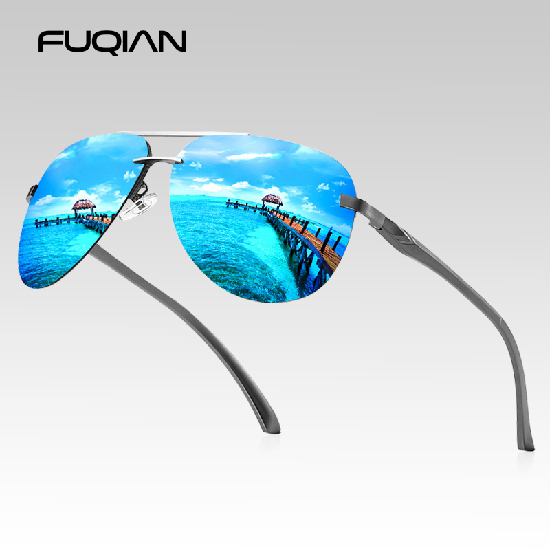 US $6.82 43% OFF|FUQIAN 2020 Fashion Rimless Pilot Polarized Sunglasses Men High Quality Aluminum Magnesium Sun Glasses Women Driving Shades|Men