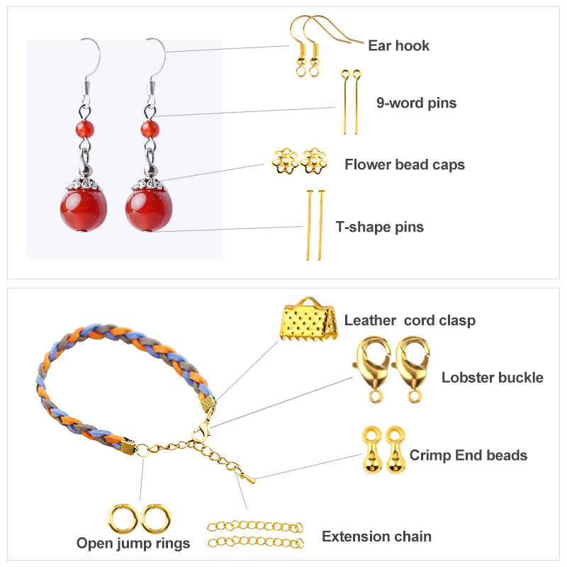Earring Hook Jewelry-Findings-Set Alloy-Accessories Openjump-Rings Copper-Wire Kit