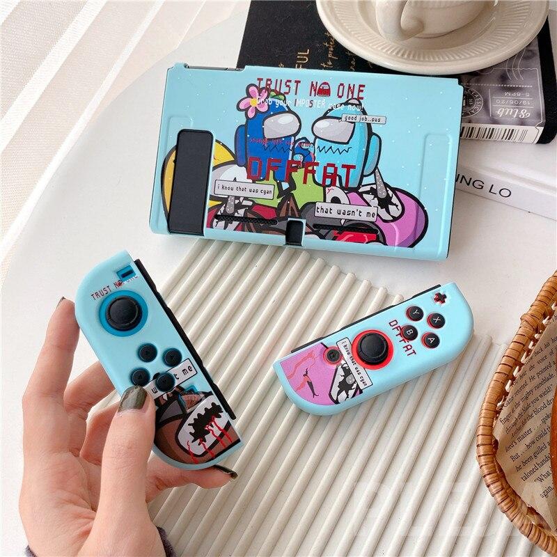 Забавный мультяшный чехол для Nintendo Switch NS NX чехол s Силиконовая задняя крышка для Switch Lite чехол с разрезом симпатичный чехол
