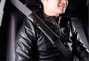 2 шт. Накладка для ремня безопасности автомобиля углеродного волокна плеч подкладка аксессуар для автомобилей Mercedes Benz Toyota BMW Audi Honda FORD Chevrolet NISSAN Ремни безопасности и накладки      АлиЭкспресс