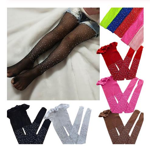 Baby Tights Top Fashion Baby Girls Children Mesh Fishnet Net Pattern Pantyhose Diamond Tights Stockings Fishnet Tights