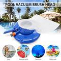 Dropship piscina cabeça de vácuo limpeza rápida piscina parte inferior deixa coleção piscina acessório