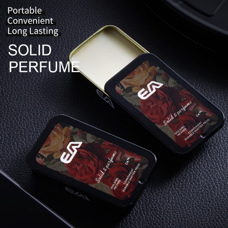 Solid Parfum Portable Fragrances Women Men Solid Perfume Portable Case Solid Balm Mild Long Lasting Aroma Deodorant Fragrance