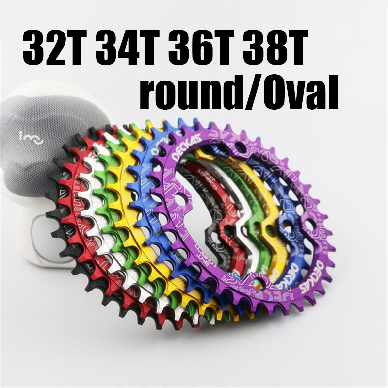 Ultralight 104 BCD <font><b>32T</b></font> 34T 36T 38T MTB Mountain Bike Chainring Round Oval Chain wheel Cycling Bicycle Crank image