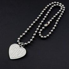 Igirl jóias moda menina carta coração colares para mulheres de aço inoxidável strand chain colar legal meninas presente do punk collier
