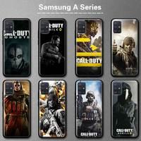 Call Duty Mobiele Luxe Telefoon Case Voor Samsung Galaxy A10 A20 A30 A40 A50 A70 A11 A21s A31 A41 a51 A71 Back Cover Coque Mobiele