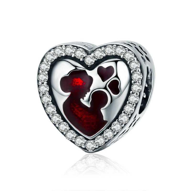 מכירה לוהטת כלב לב קסם חרוזים תליון Fit מקורי צמיד צמיד Diy שרשרת עבור נשים בנות מסיבת חתונת תכשיטי מתנות