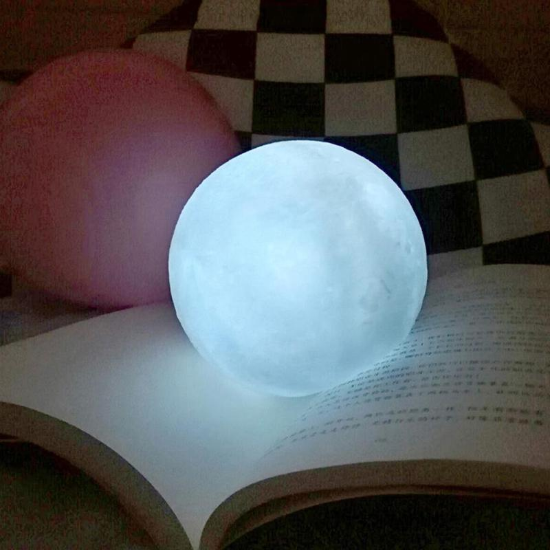 Dropship Silicone Moon Lamp LED Night Light Touch Switch Moon Light For Kids Bedroom Christmas Decoration Gift