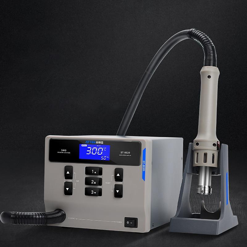 Tools : Original ATTEN lead-free hot air gun soldering station Intelligent digital display 1000W rework station For PCB chip repair