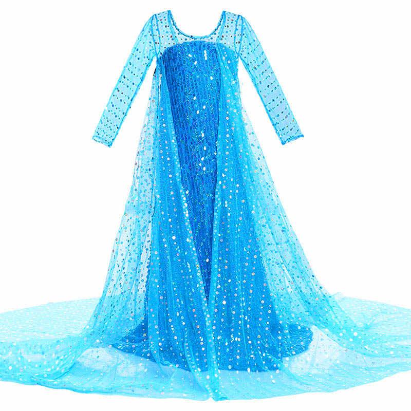 נסיכת אלזה שמלה עבור בנות ילדים חג המולד קוספליי שלג מלכת 2 אלזה אנה תלבושות ילדי קרנבל מסיבת בגדים