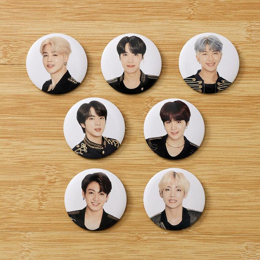 Kpop Bangtan Boys Badge 5th MUSTER Album Photo Korean KPOP Stationery Set New Arrivals