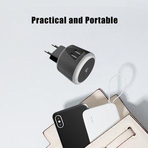Image 4 - VOXLINK 5V2. 4A chargeur de voyage intelligent avec LED veilleuse double usb charge pour iPhone Samsung Xiaomi voyage chargeur universel