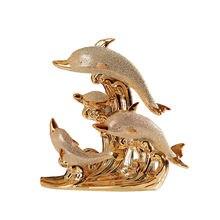Статуя дельфина любовь керамическая матовая ручная работа современная