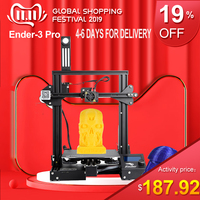 Ender 3 Pro 3D Printer Upgraded Magnetic Build Plate Resume Power Failure Printing DIY KIT Mean Well Power Supply