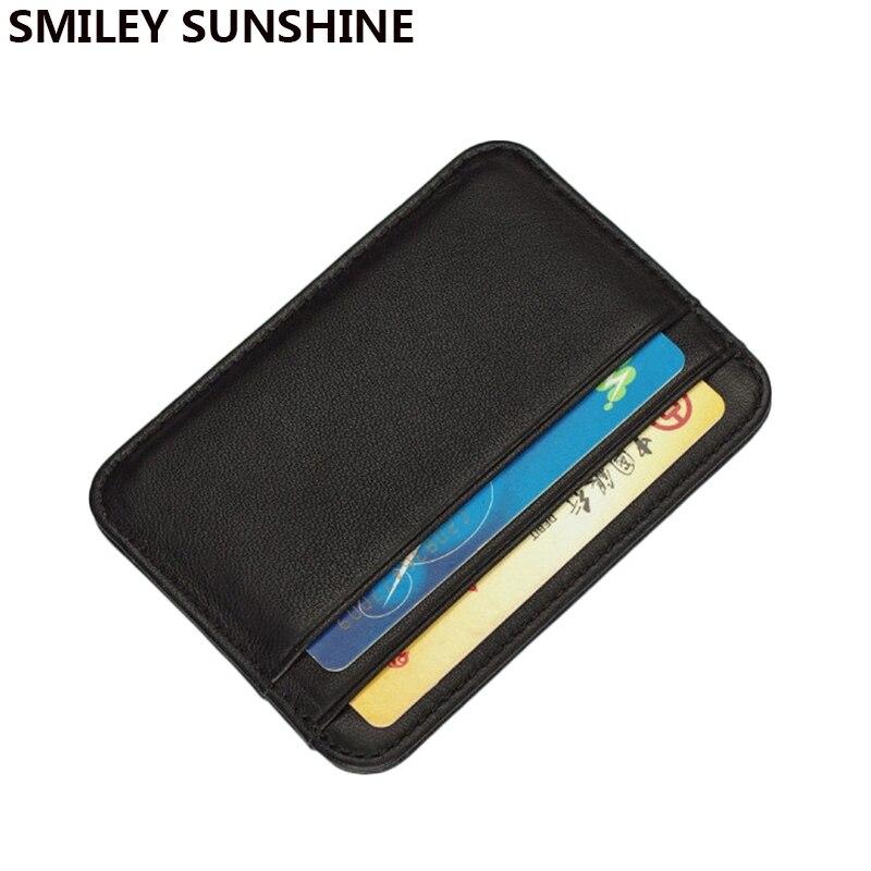Тонкий RFID блокирующий держатель для кредитных карт из натуральной кожи, кошелек для кредитных карт, кошелек для денег, держатель карт, чехол для мужчин и женщин 2020