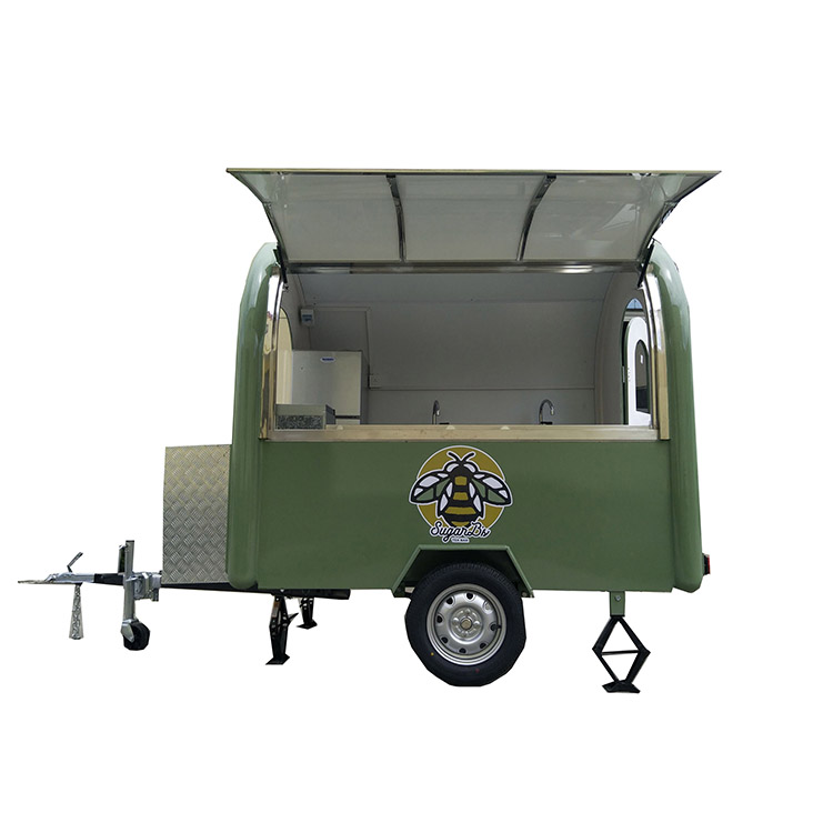 Customize logo 220*160*210cm  food trailer street mobile food cart for fast food hot selling|Food Processors| |  - title=