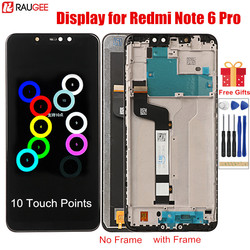 LCD Display for Redmi Note 6 Pro LCD with Frame 10 Points Touch Screen Replacement For Xiaomi Redmi Note 6 Note6 Pro Global LCD