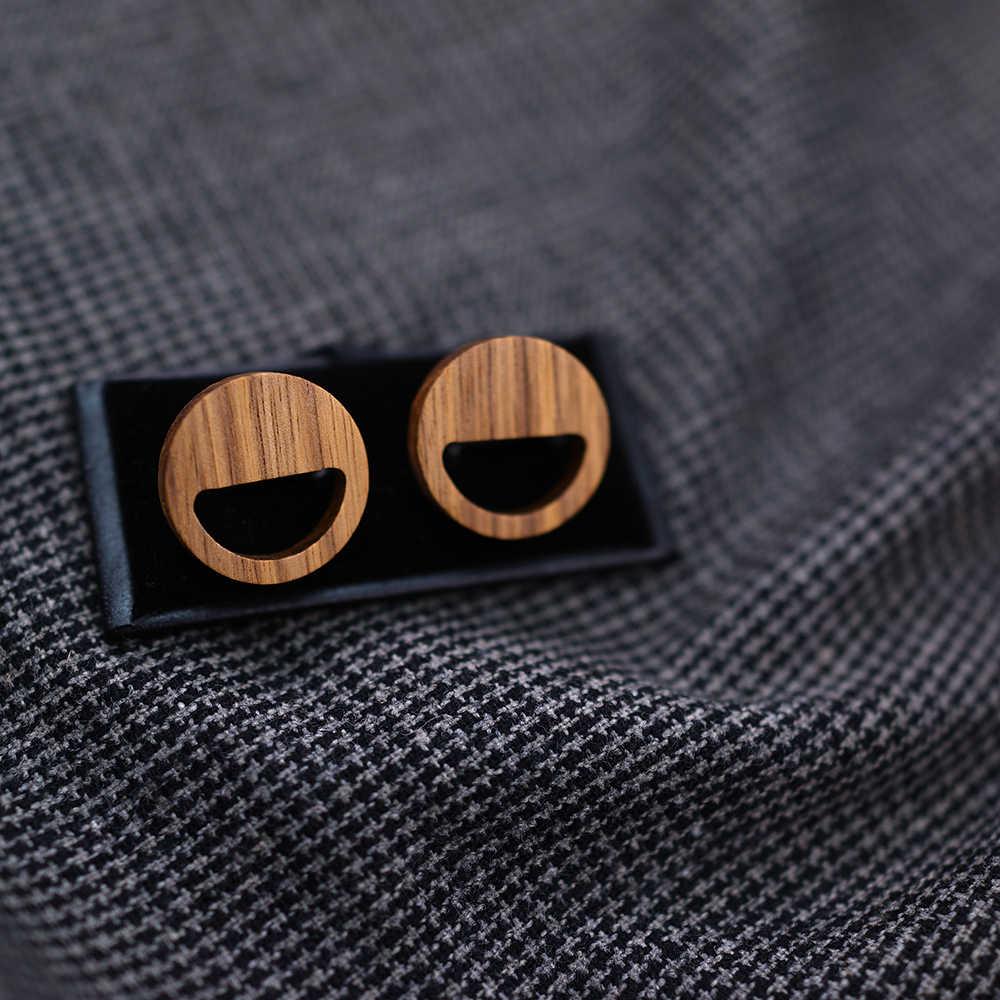 2020 موضة فاخرة 925 فضة الخشب ابتسامة الوجه أقراط القرط للنساء هدية الكريسماس Gifl مجوهرات هدية