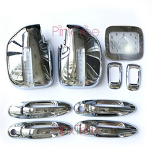 13 Pcs Chrome Accessory Door Handle Side Lamp Mirror Cover Fuel Tank Cover For Toyota Land Cruiser 1