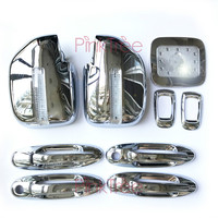 13 Pcs Chrome Accessory Door Handle Side Lamp Mirror Cover Fuel Tank Cover For Toyota Land Cruiser 100 For Lexus LX470 1998 2007