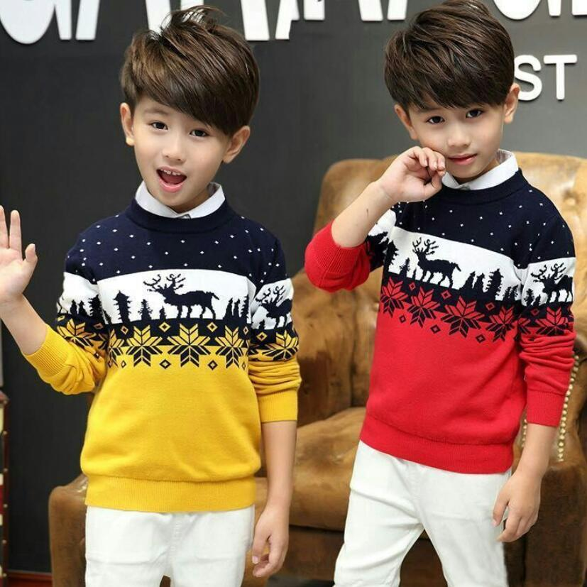 teenage spring warm sweater 2-17T children cotton knitted sweater baby boys pullovers winter fleece sweaters children bottoming 1