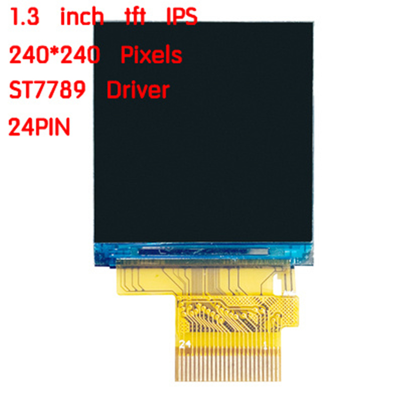 IPS 1.3 cal 24PIN 262K SPI HD kolorowy ekran TFT o przekątnej ST7789 Driver 240(RGB)* 240 MCU 4-wire SPI 8Bit interfejs równoległy pełny widok