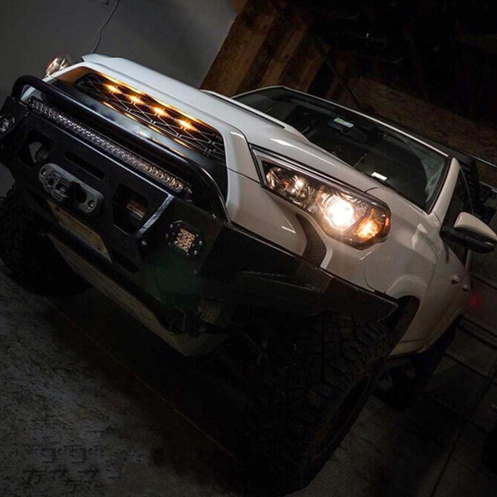 Rejilla de parachoques delantero para coche, luz de emergencia de advertencia estroboscópico Led de Bomberos de policía intermitente Dc12v para Toyota 4 Runner, superventas|Ensamblaje de luces de coche| - AliExpress