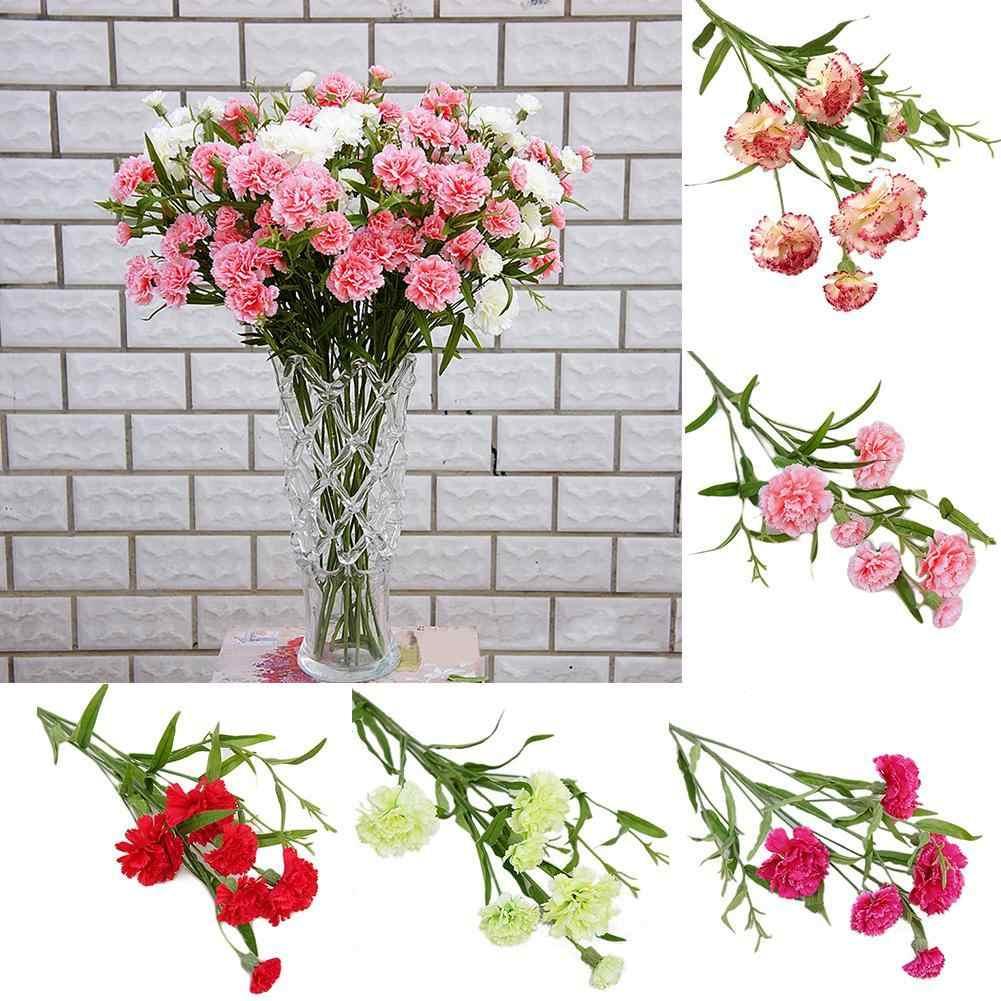Silk Carnation Wedding Home Decorative Artificial Flowers Photographic Prop //KT