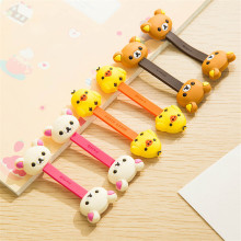 2PCS Cartoon Multipurpose Earphone Cable Winder phone Wire Cord Organizer protector Desktop PC Data line Collation Management