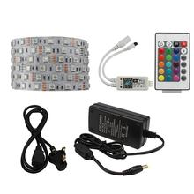 Smart 24 Tombol Kontrol WIFI IP65 Tahan Air 16.4ft 60 LED/M RGB Warna-warni LED Lampu Strip Set + Power adaptor + Kontrol WIFI(China)