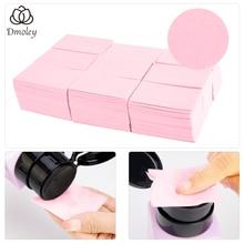 Dmoley 1Pack Pluizende Doekjes Servetten Nagellak Remover Gel Nail Doekjes Nail Cutton Pads Manicure Pedicure Gel gereedschap