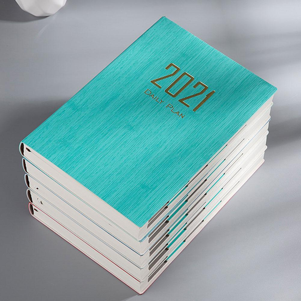 Time Management Schedule Book 2021 Color Calendar Coil Diary Reminder Creative NoteBook Timetable Planner Desk Dates Table C7V4