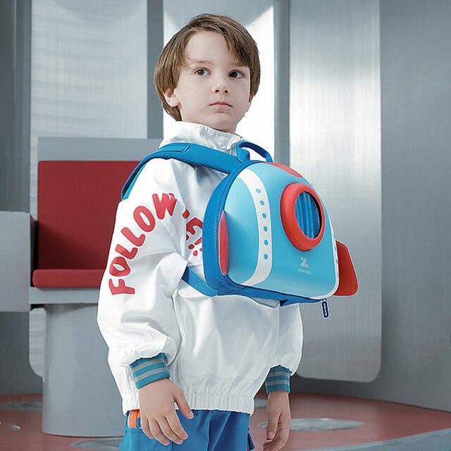 NOHOO maluch plecak dla dzieci 3D Rocket Space Cartoon torby przedszkolne plecaki szkolne dla dzieci przedszkole torby dla dzieci Mochila