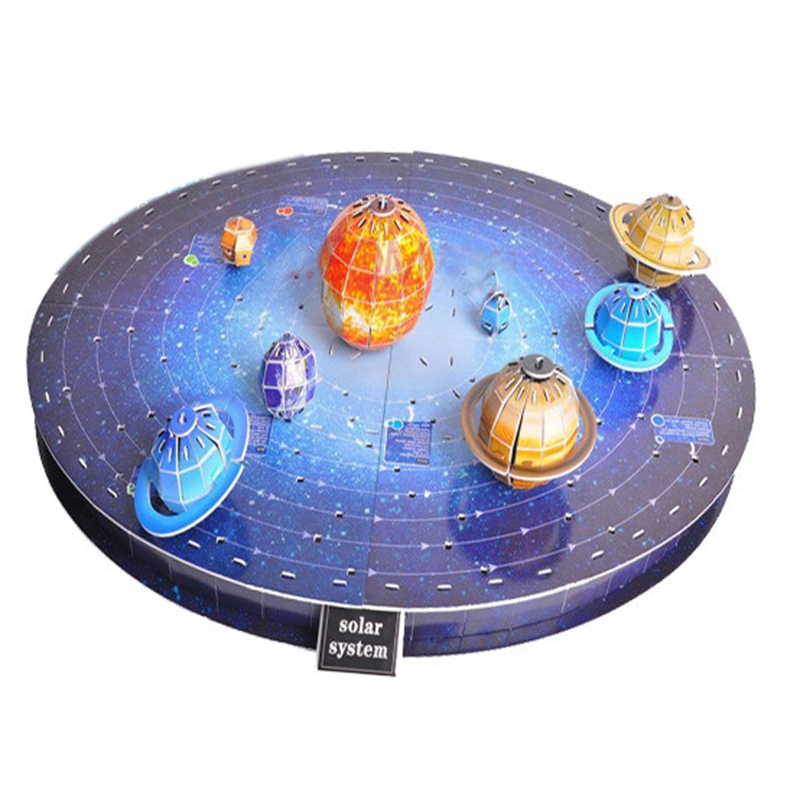 146Pcs 3D Solar System Puzzle Set Planet Board Game 3D Paper DIY Jigsaw Learning & Education Science Toy Age 6+ Birthday Gift
