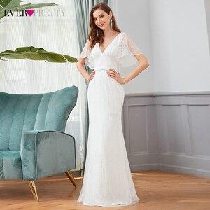 Image 5 - Sparkle Mermaid Evening Dresses Long Ever Pretty Sequined V Neck Short Sleeve Elegant Formal Party Gowns Vestidos Largos Fiesta