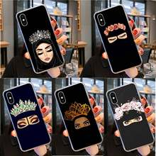 Muslim Islamic Gril Eyes Luxury Unique Design Phone Cover for iPhone 11 pro XS MAX 8 7 6 6S Plus X 5 5S SE XR cover(China)
