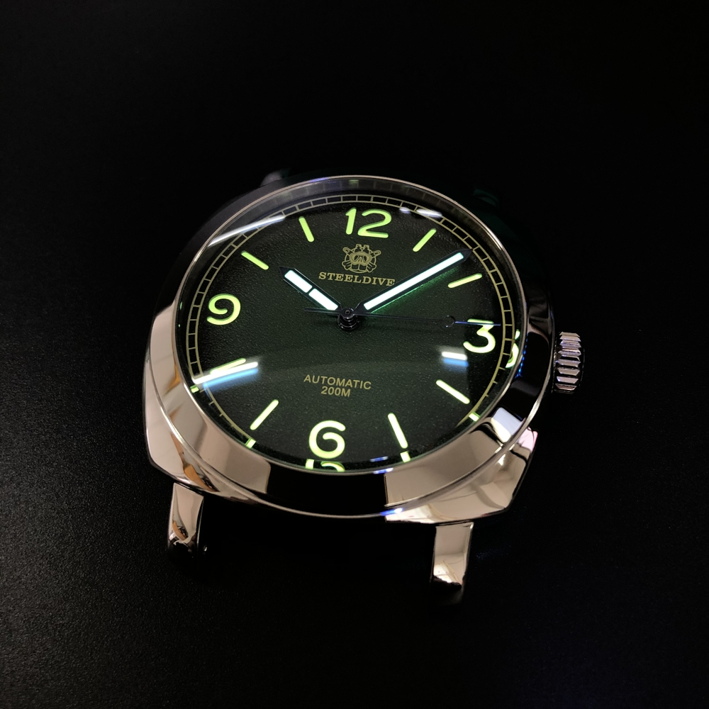 1938 Carnival Watch Mechanical Watch Men's Diving Watch Mechanical Swis-s C3 Super Luminous 200m Waterproof Watch 316L