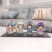 Nova loz mini blocos cabeças peking opera personagem quintessência nacional blocos de brinquedos parágrafos construção crianças
