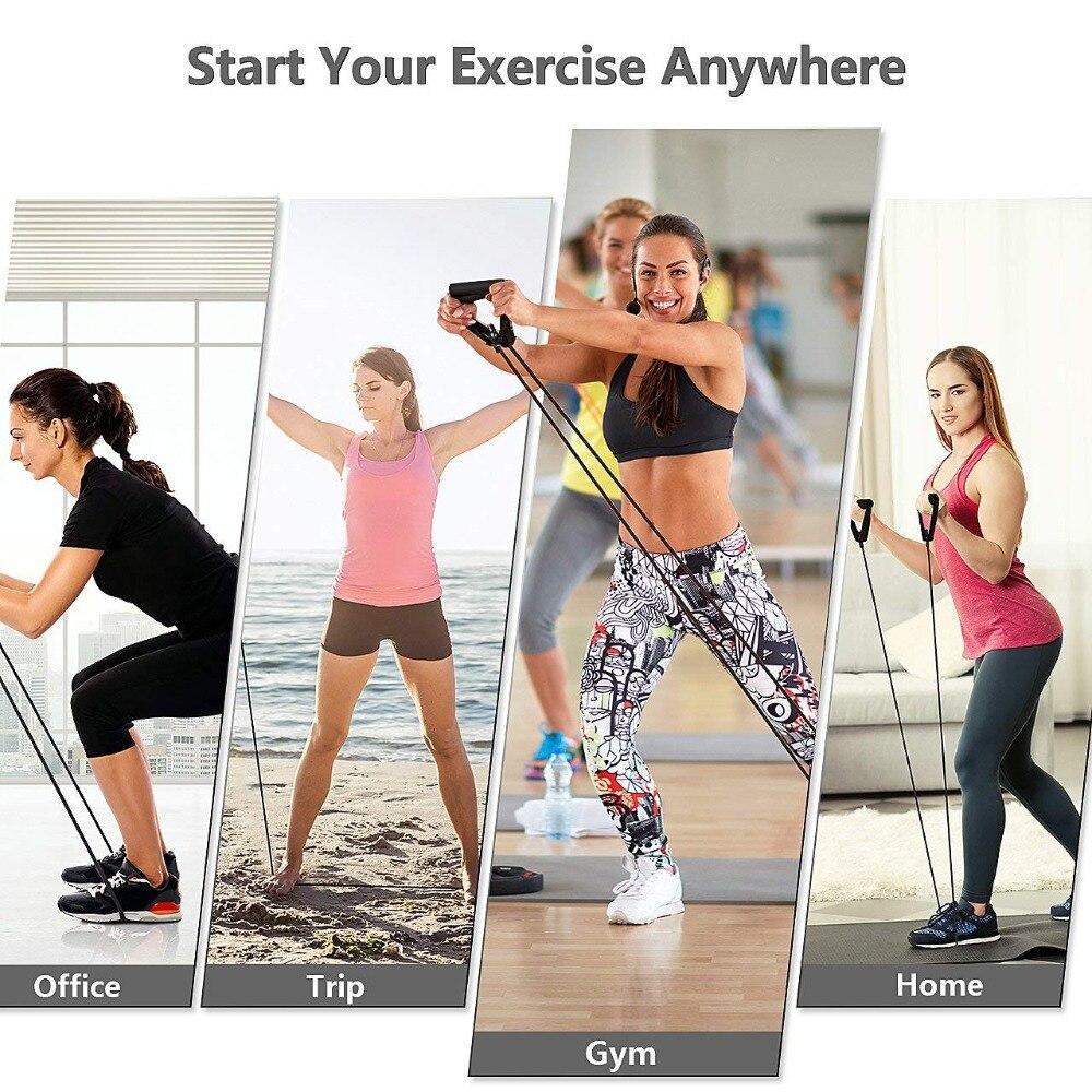 5 уровней Эспандеры с ручками эластичная веревка для йоги эластичный Фитнес Упражнение трубки Band для домашние тренировки для силовой тренировки-5