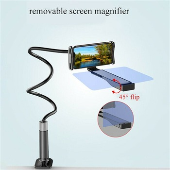 Mobile Phone High Definition Projection Bracket Adjustable Flexible All Angles Phone Tablet Holder 3D HD Screen Magnifier 2