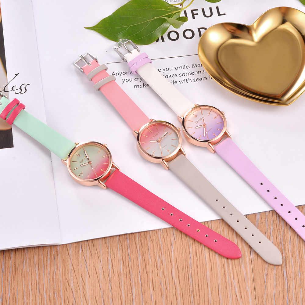 Reloj de mujer para mujer Casual banda de cuero de cuarzo nuevo reloj de pulsera analógico Zegarek Damski Elegancki relojes de pulsera para mujer