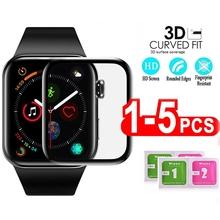 Pellicola salvaschermo impermeabile per apple watch 5 4 3 38MM 40MM 44MM 42MM (vetro morbido non temperato) pellicola per Iwatch 4 5 6 SE cheap Arvin Anti Glare CN (Origine) Pellicola anteriore