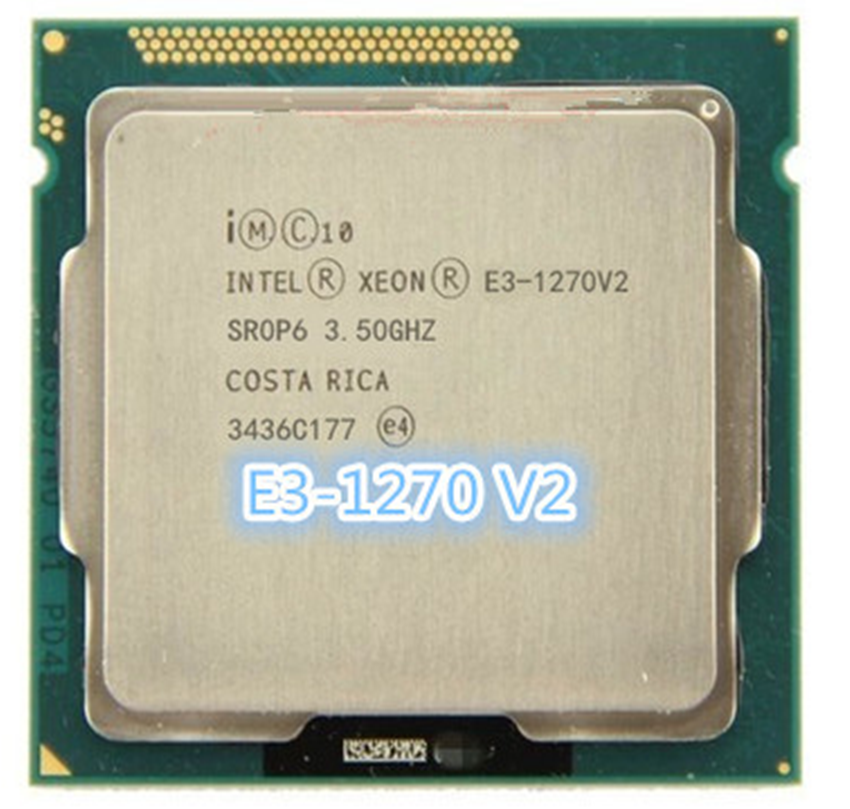 Intel <font><b>Xeon</b></font> <font><b>E3</b></font>-<font><b>1270</b></font> <font><b>v2</b></font> 3.5 GHz Quad-Core CPU Processor Quad-Core 8M 69W LGA 1155 image