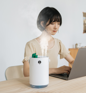 Image 2 - Youpin Sothing 1L Air Humidifier  LCD Digital Detect Humidity Ultrsonic Cool Mist Aroma Diffuser with Colorful LED Light Cactus
