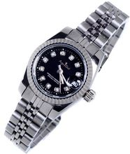 Luxury Brand New Stainless Steel Sapphire Watch Women Lady Automatic Mechanical Diamonds Silver Gold Black Datejust Watches 26mm(China)