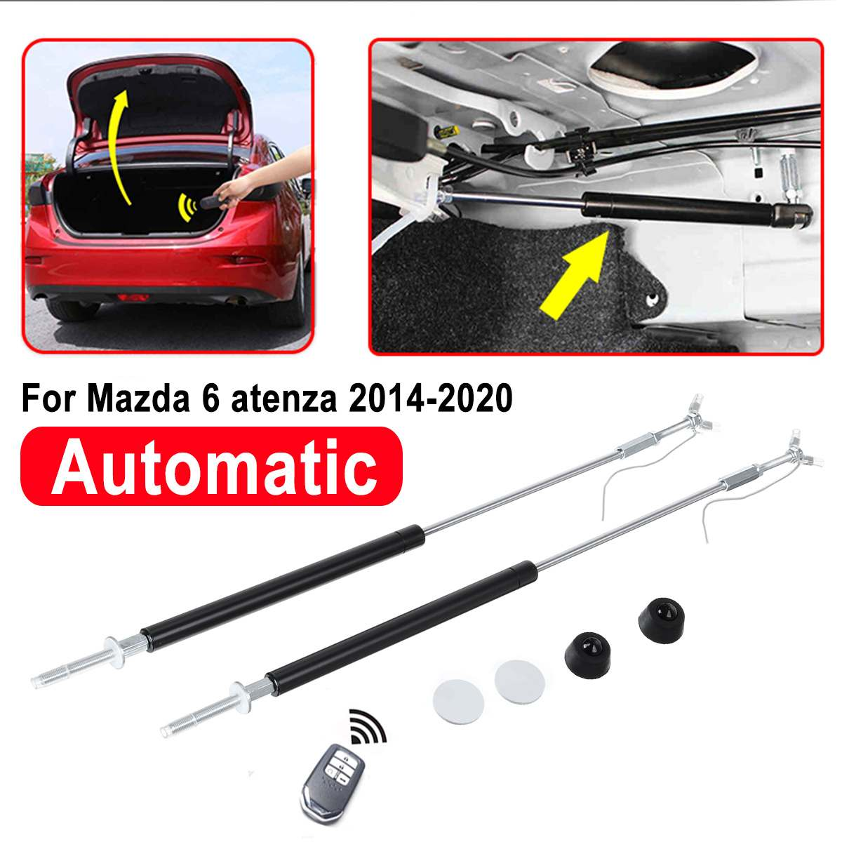 1 Pair Refit Rear Tailgate Back Trunk Boot Gas Struts Door Spring Shock Lifting Bracket For Mazda 6 Atenza 2014-2020 Automatic(China)