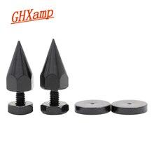 GHXAMP 4 ensembles M6 * 40mm support de haut parleur pointes coussinet de pied pour caisson de basses étagère haut parleur Suspension amplificateur CD lecteur acier au carbone