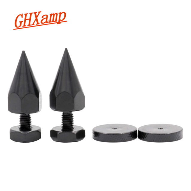 Ghxamp 4 Sets M6 * 40 Mm Speaker Stand Spikes Voet Pad Voor Subwoofer Boekenplank Speaker Suspension Versterker Cd speler carbon Staal