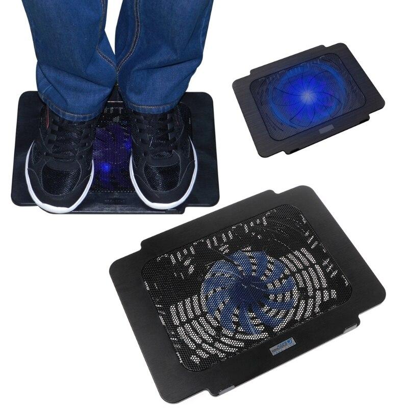 Охлаждающая подставка для ноутбука, большой вентилятор, usb подставка для ноутбука 14 дюймов, светодиодный светильник, ноутбук Охлаждающие подставки для ноутбуков      АлиЭкспресс